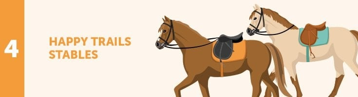 Custom Happy Trails Stables Graphic
