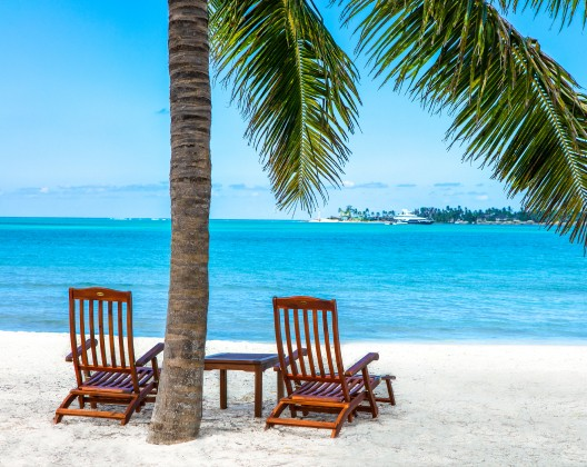 Two chairs on the beach in Nassau Paradise Island