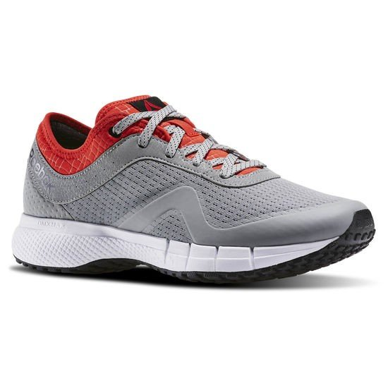 Grey and red sneaker by Reebok