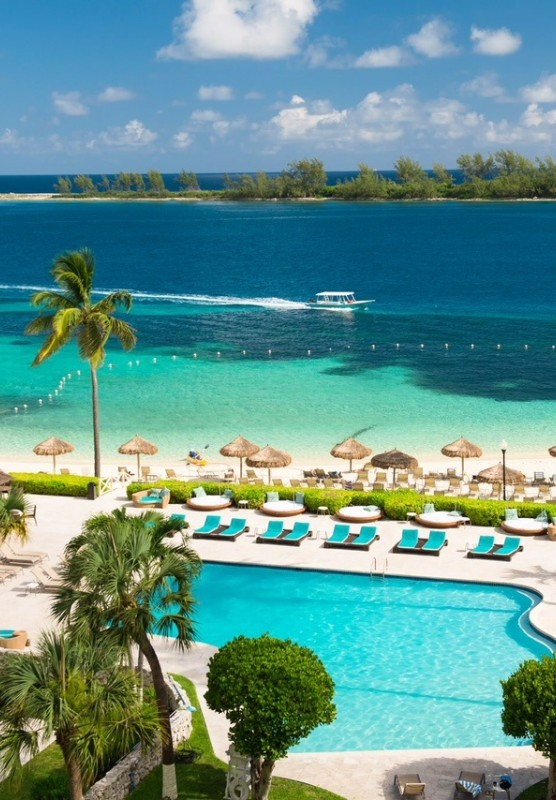 British Colonial Hilton's private beach in Nassau Paradise Island