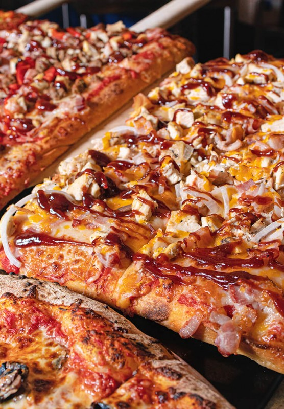 up close photo of pizza
