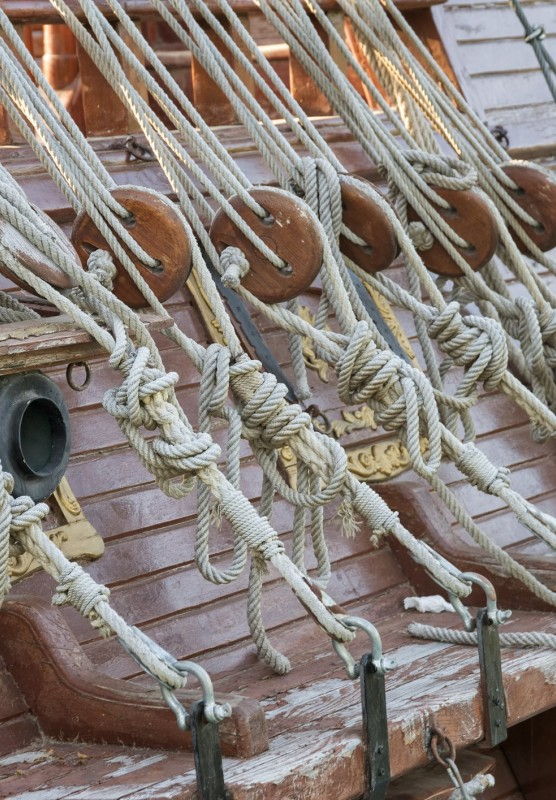 Ropes on a ship