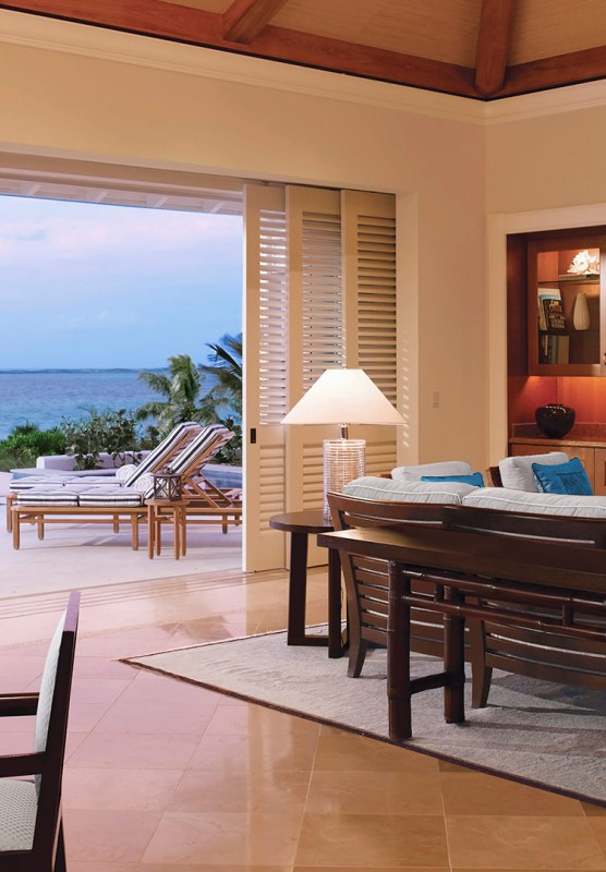 A spacious villa with beach access.